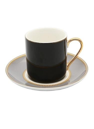 Vitale 6'Lı Porselen Kahve Fincan Seti He0030 Renkli